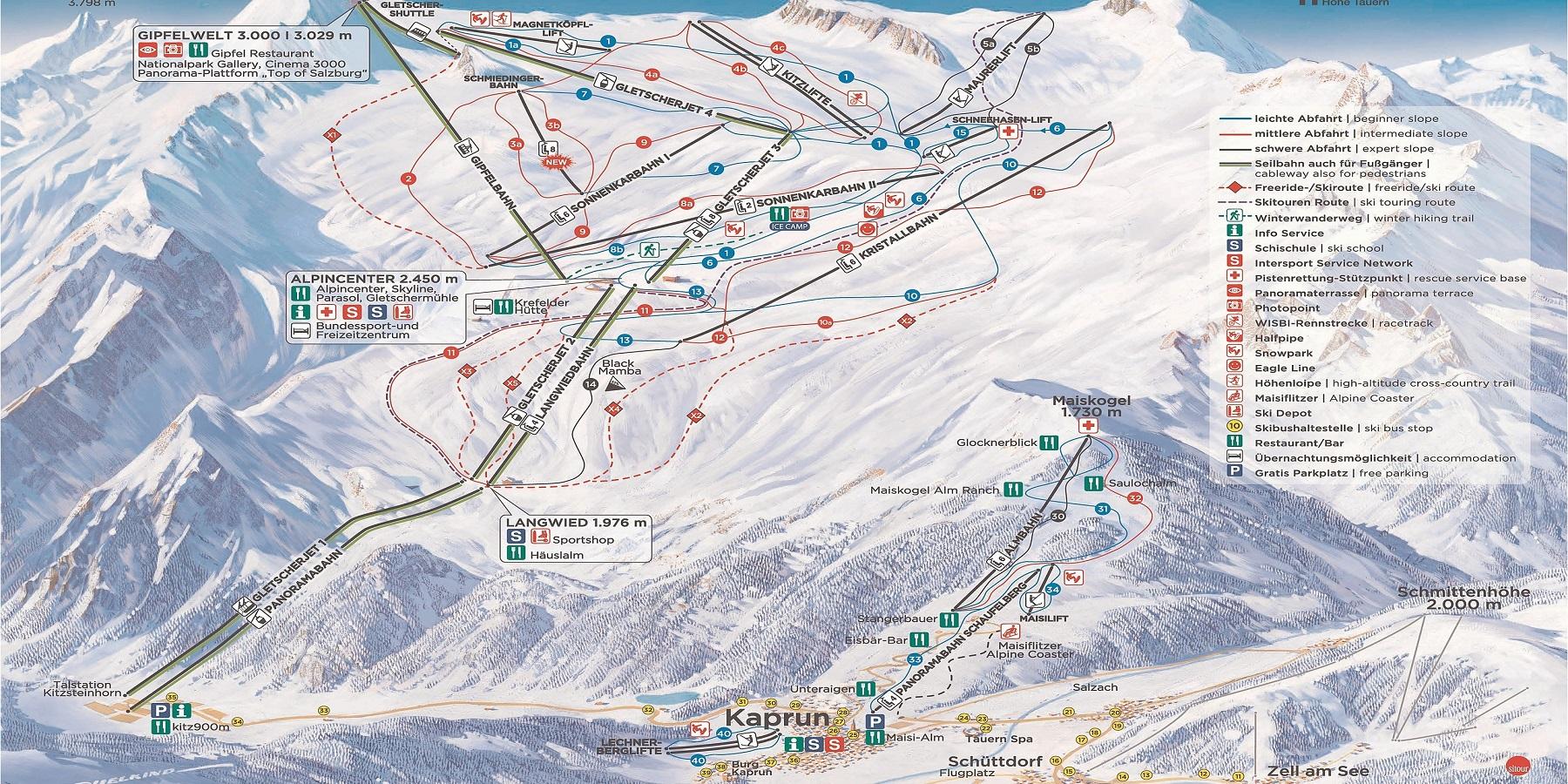 Карта трасс - Капрун