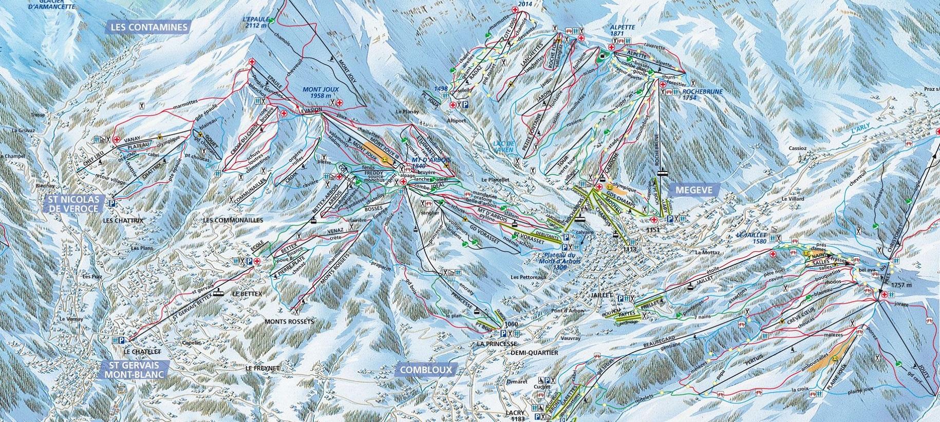 Карта трасс Межев