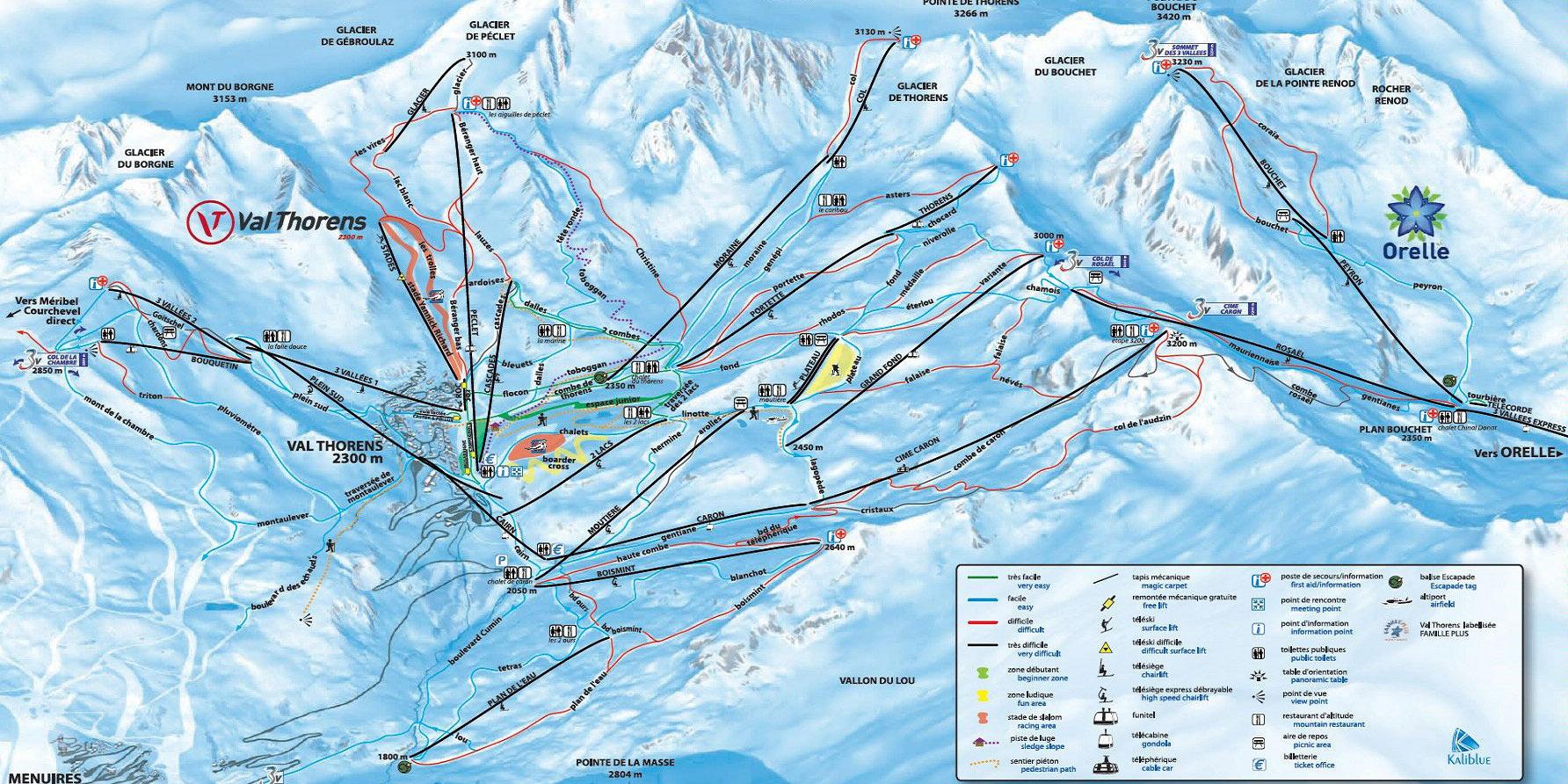 Карта трасс Валь Торанс